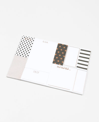 Set di sticker fantasia bianco