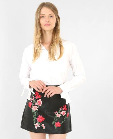 Camicia con fiocchi écru