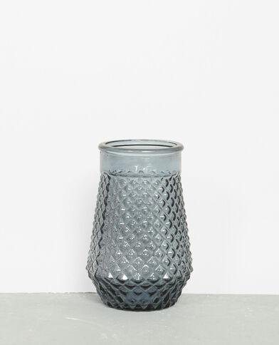 Vaso in vetro colorato bianco