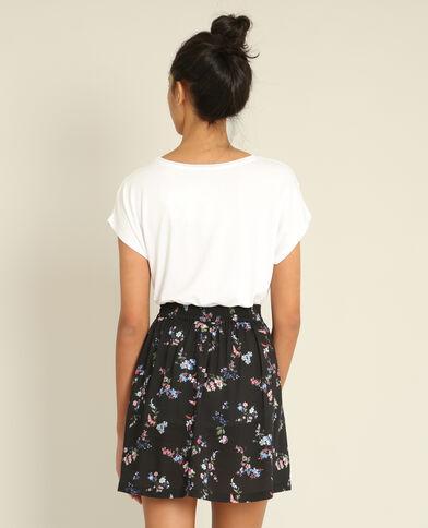 T-shirt bimateriale bianco