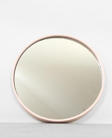 Grande specchio rotondo rosa