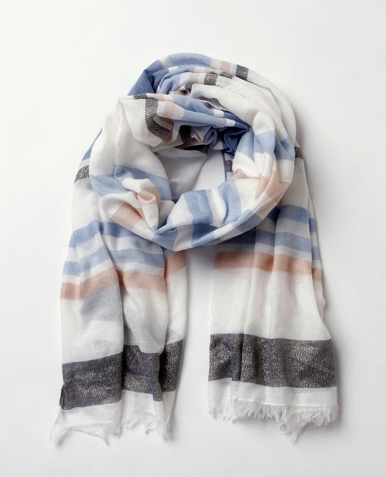 Foulard tessuto lurex blanc
