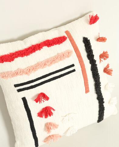 Federa per cuscino con motivi beige