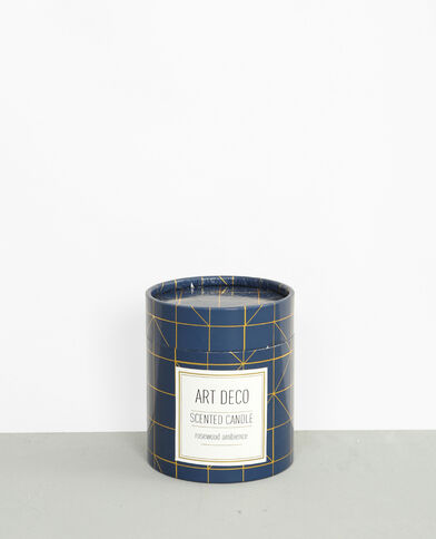 "Candela profumata ""Rosewood"" art déco blu marino"