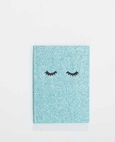 Block-notes glitter blu