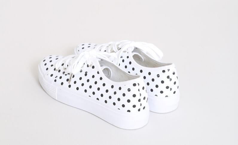 Scarpe sportive a pois bianco