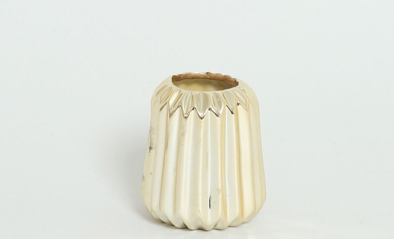 Piccolo vaso striato dorato