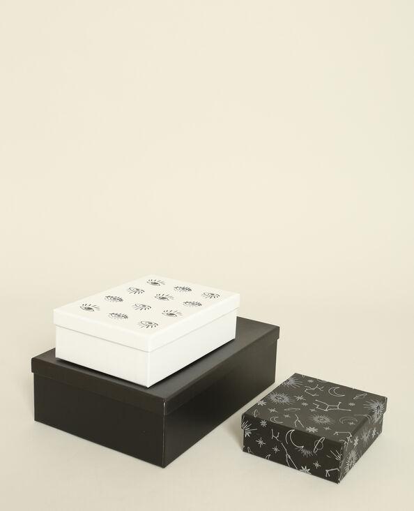 Lotto da 3 scatole stampate nero