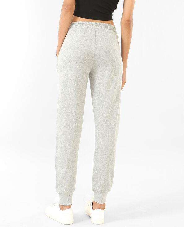 Pantalone da jogging con patch. grigio