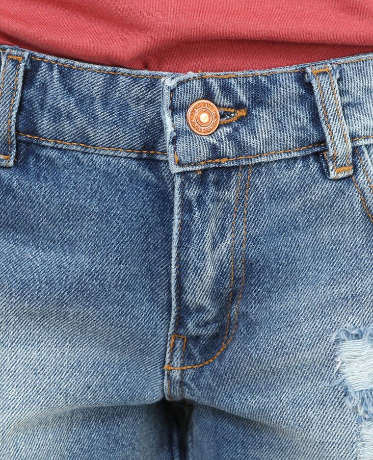 Mini short raw cut blu denim