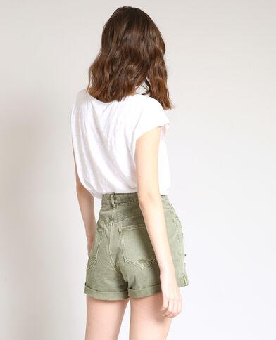 T-shirt in lino bianco