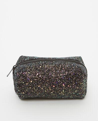 Trousse per il trucco glitter nero