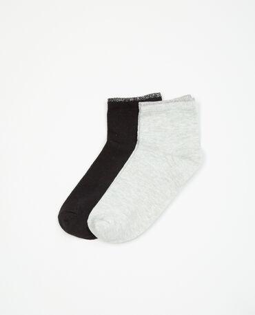 Paio di calze lurex nero