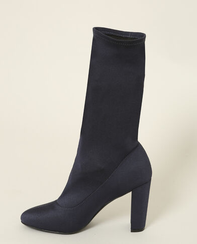 Stivali in tessuto elasticizzato blu