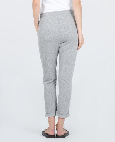 Pantalone da jogging homewear grigio chiné