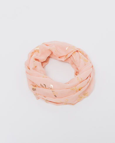 Foulard-collo stampato rosa