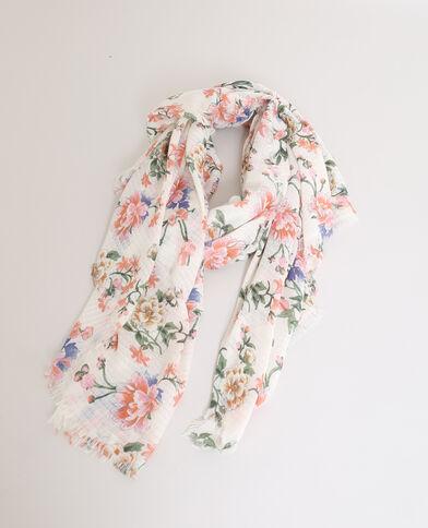 Foulard a fiori bianco sporco