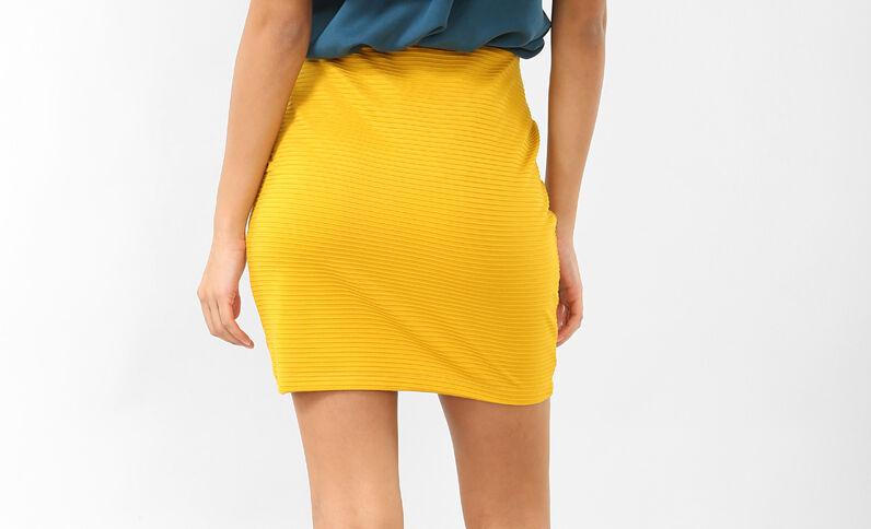 Minigonna bodycon giallo