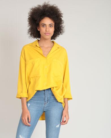 Camicia XL morbida giallo mostarda