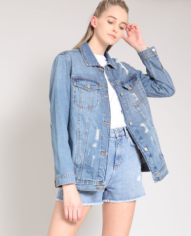 Giacca in jeans XL blu denim