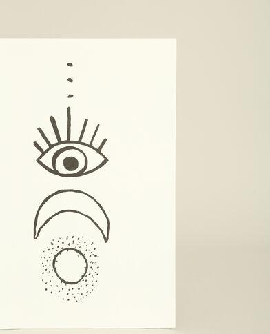 Manifesto da parete stampato grigio