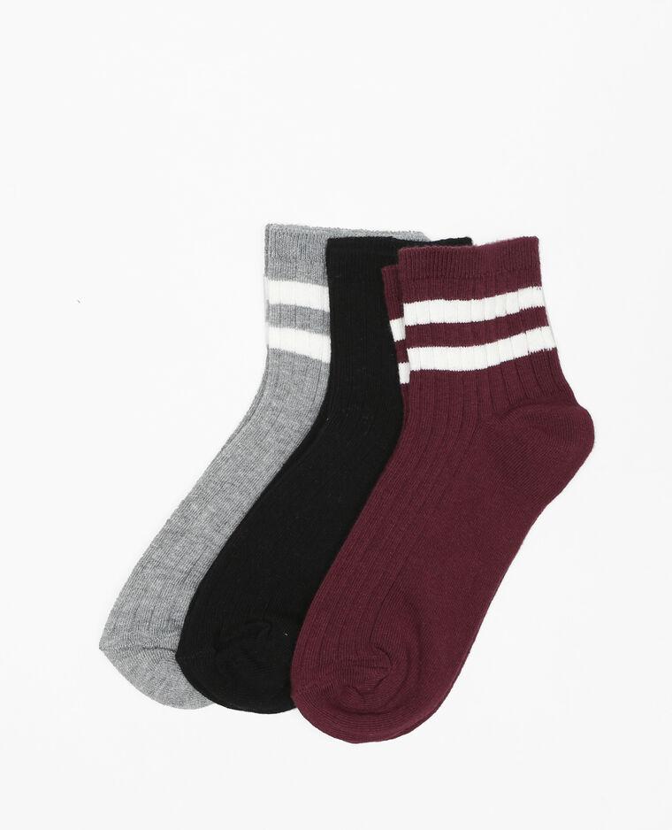 Lotto di calze corte grigio