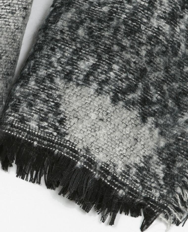 Sciarpa plaid nero