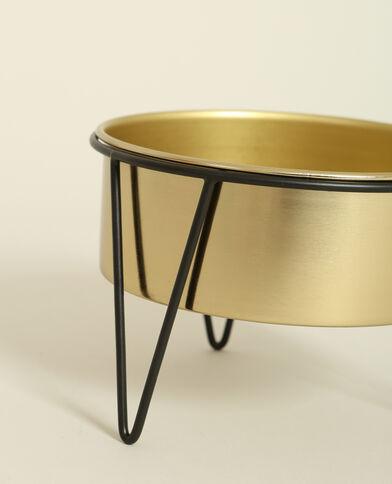 Piccolo vaso con gambe dorato