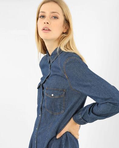 Abito camicia jeans blu