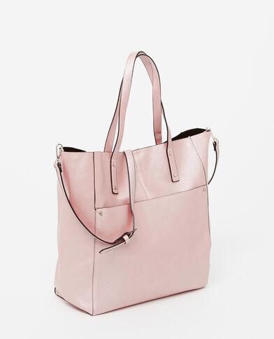 Borsa shopping grande rosa cipria