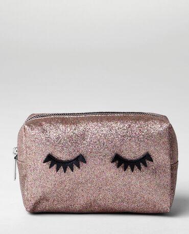 Trousse make up glitter eyes dorato