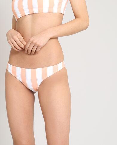 Pezzo sotto di bikini a righe bianco