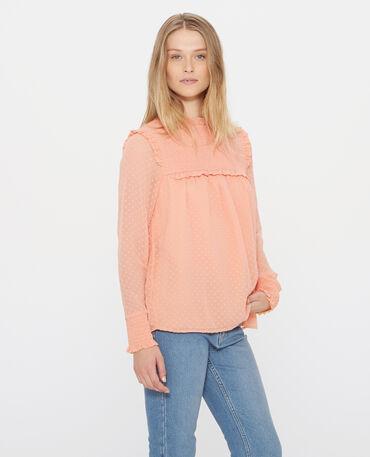 Blusa in plumetis arancio