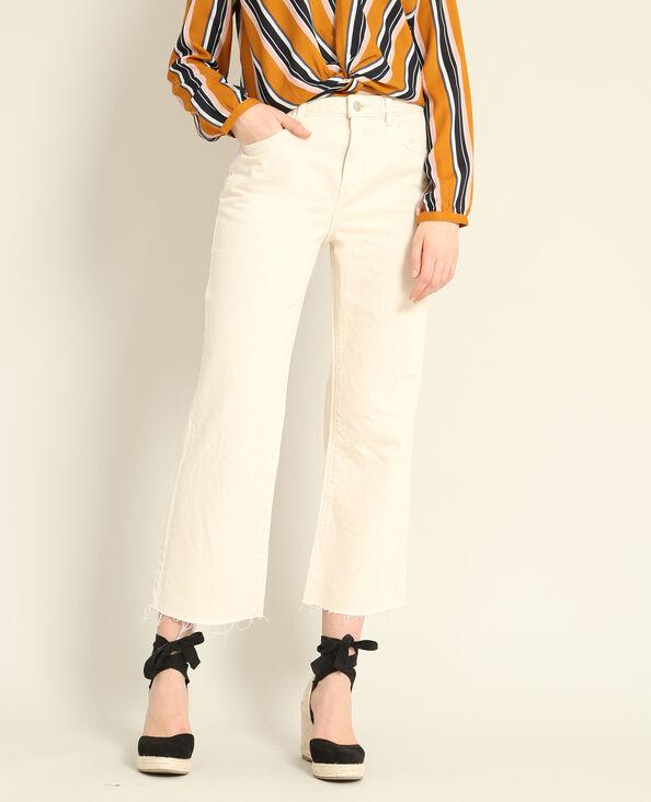 Gonna pantalone in jeans bianco