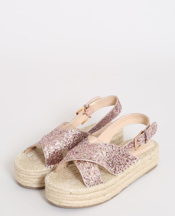 Sandali con plateau rosa
