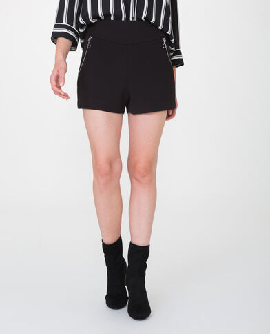 Short con zip nero