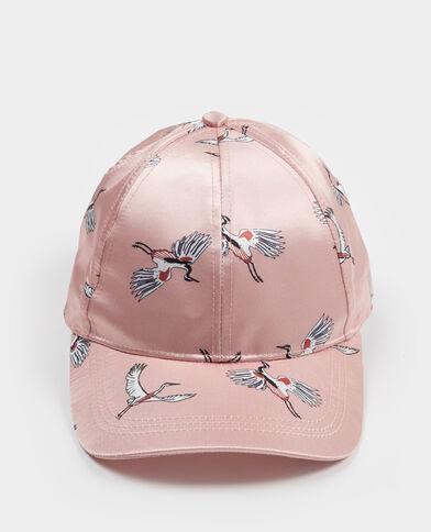 Cappellino satinato rosa