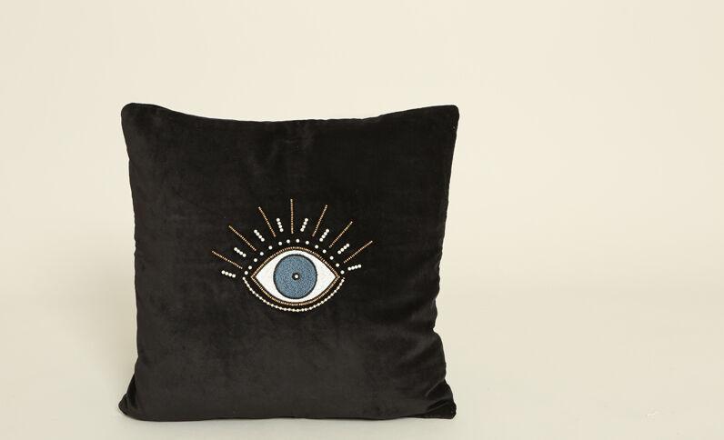 Federa per cuscino effetto velluto nero