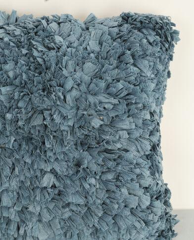 Grande cuscino con frange blu