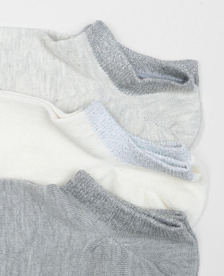 Calze invisibili lurex bianco sporco
