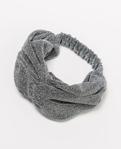 Headband lurex argento grigio