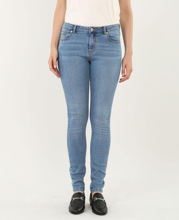 Jeans skinny blu grezzo