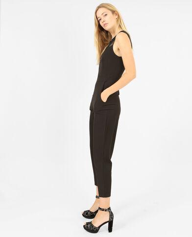 Abito pantalone senza maniche nero