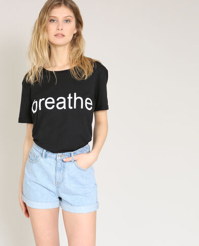 T-shirt Breathe nero