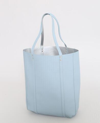 Shopper double face blu