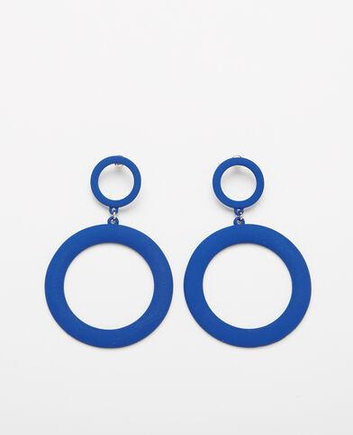 Orecchini XL blu elettrico