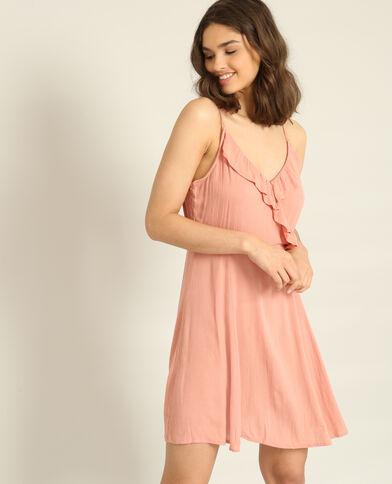 Abito con spalline sottili rosa cipria