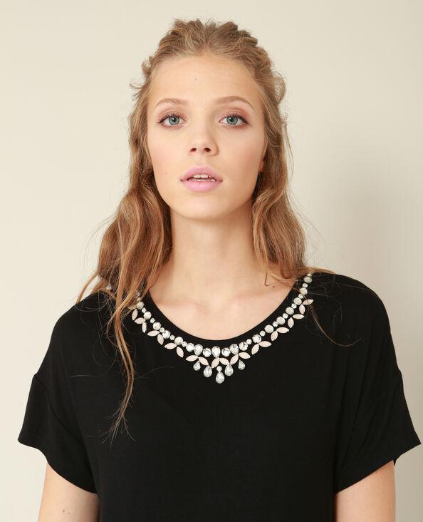 T-shirt gioiello nero