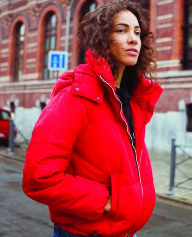 Piumino oversize rosso