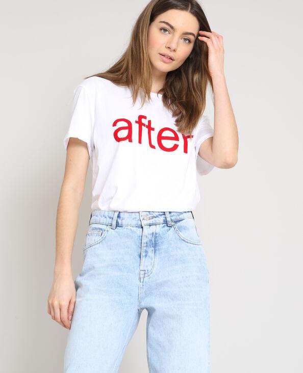 T-shirt AFTER bianco